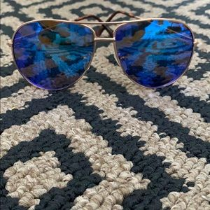Pacsun blue aviator sunglasses